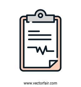 health medical clipboard report line and fill