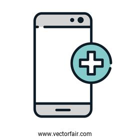 health medical smartphone online service line and fill