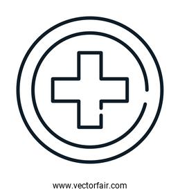 health medical cross service line icon