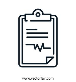 health medical clipboard report line icon