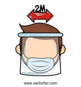 social distance and wear mask new normal after coronavirus covid 19