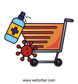 cleaning shopping cart new normal after coronavirus covid 19