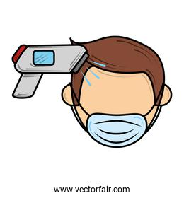 wearing mask and check temperature, new normal after coronavirus covid 19