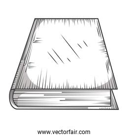 blank book cover library, educational or learning concept engraving style
