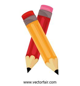 back to school pencils supplies education icons