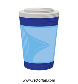 takeaway disposable coffee cup icon isolated design
