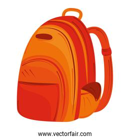 back to school, orange backpack equipemnt education
