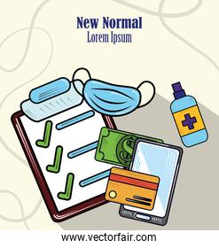 new normal, online payment and disinfect surfaces, after coronavirus covid 19