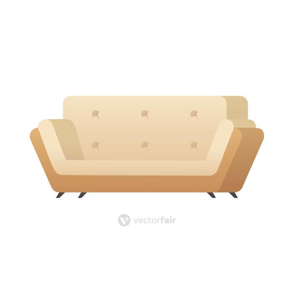 sofa double forniture house isolated icon