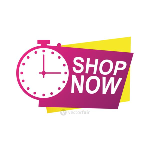 shop now countdown badge with chronometer