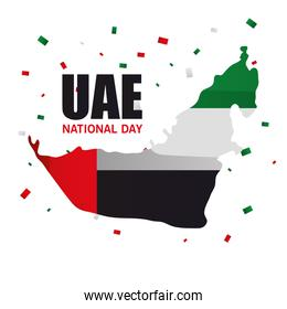 Uae national day map vector design