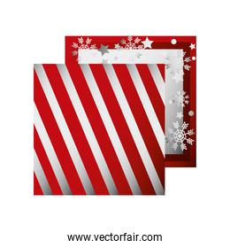 boxing day, box with snowflakes christmas seasonal offer