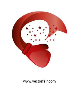 boxing day, red glove stars decoration christmas seasonal offer