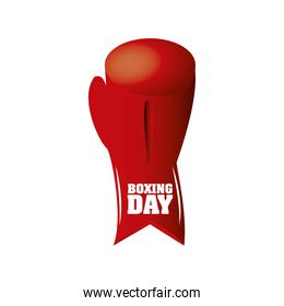 boxing day, red glove and inscripstion christmas seasonal offer