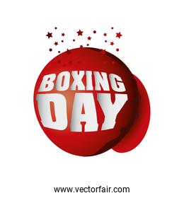 boxing day, christmas seasonal offer message with stars