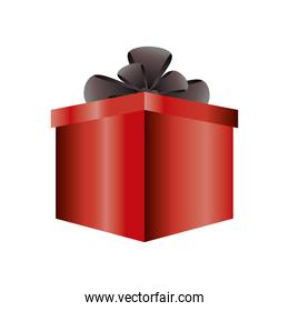 boxing day, red gift box with black bow christmas seasonal offer