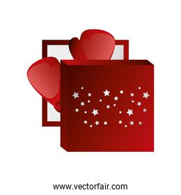 boxing day, gloves in red box with stars christmas seasonal offer