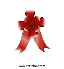 red bow ribbon decoration blurred style
