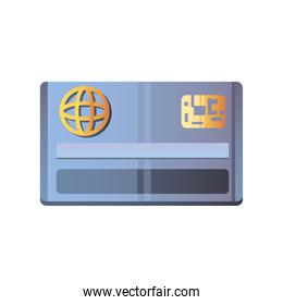 online shopping, bank credit card icon isolated design