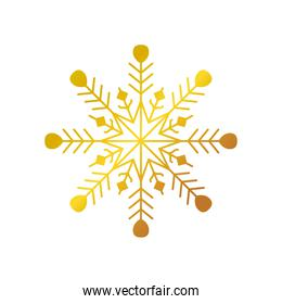 happy new year 2021 golden snowflake decoration on white background