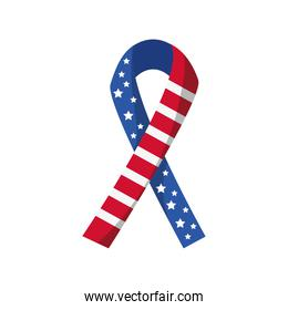 Martin Luther King Day, american flag in ribbon