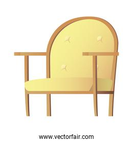 yellow sofa couch forniture house isolated