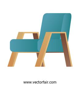 green sofa couch forniture house isolated icon