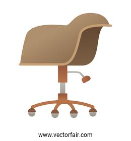 elegant office brown chair forniture isolated icon