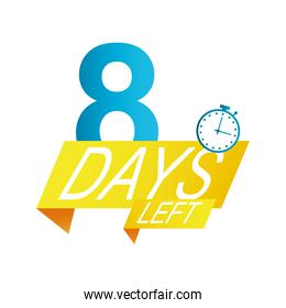 eight days left sale countdown badge
