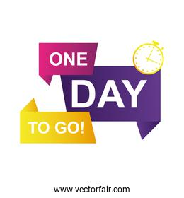 one day to go sale countdown badge