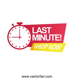 last minute sale countdown badge with chronometer