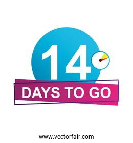 14 days to go sale countdown badge