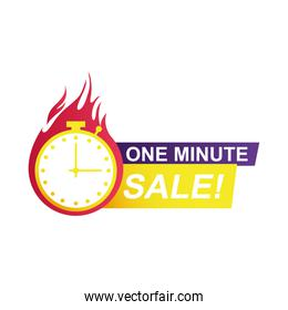 one minute sale countdown badge