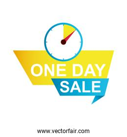 one day sale countdown badge