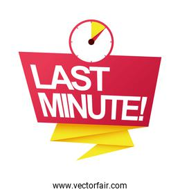 last minute sale countdown badge with chronometer timer
