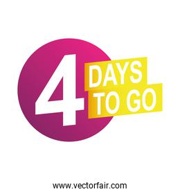 four days to go sale countdown badge