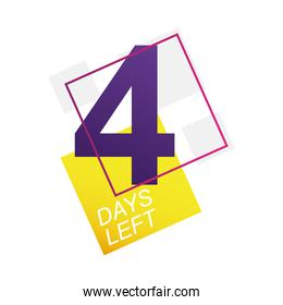 four days left sale countdown badge