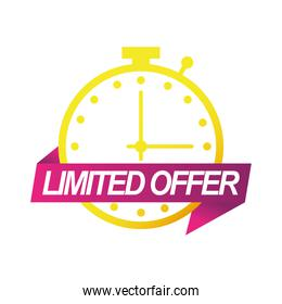 limited offer sale countdown badge with chronometer