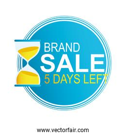 five days left brand sale countdown badge