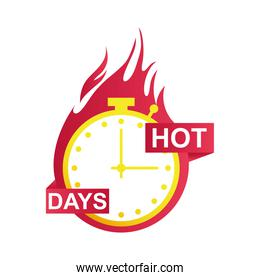 hot days sale countdown badge with chronometer