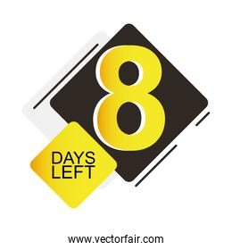 eight days sale countdown badge