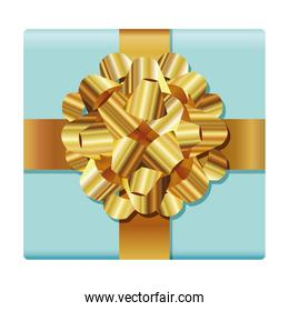 gift box with a golden bow
