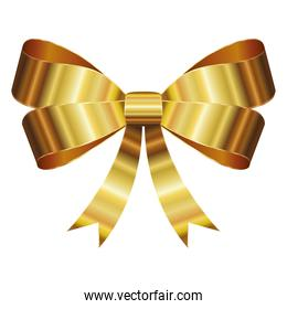 bow with a golden ribbons