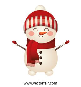 christmas snowman with hat icon