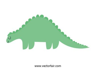 sticker of a dinosaur of green color