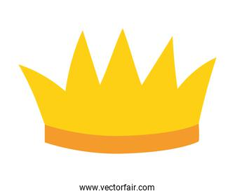 sticker of one crown of gold color