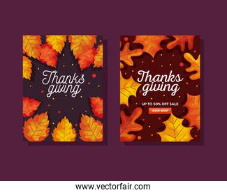 thanksgiving day with autumn leaves