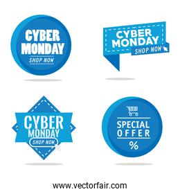 bundle of four cyber monday banners