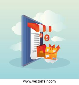 online shopping, mobile delivery service price voucher