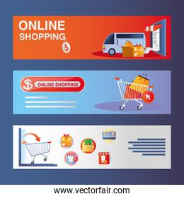online shopping, mobile payments, delivery cargo service market